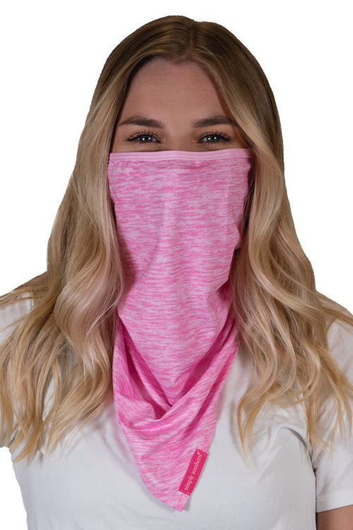 Heather Pink Bandana Style Adult Face Covering by Simply Southern