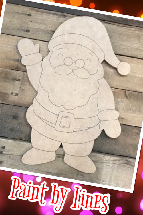 """Santa"" Wooden Door Hanger ~ Paint Yourself"
