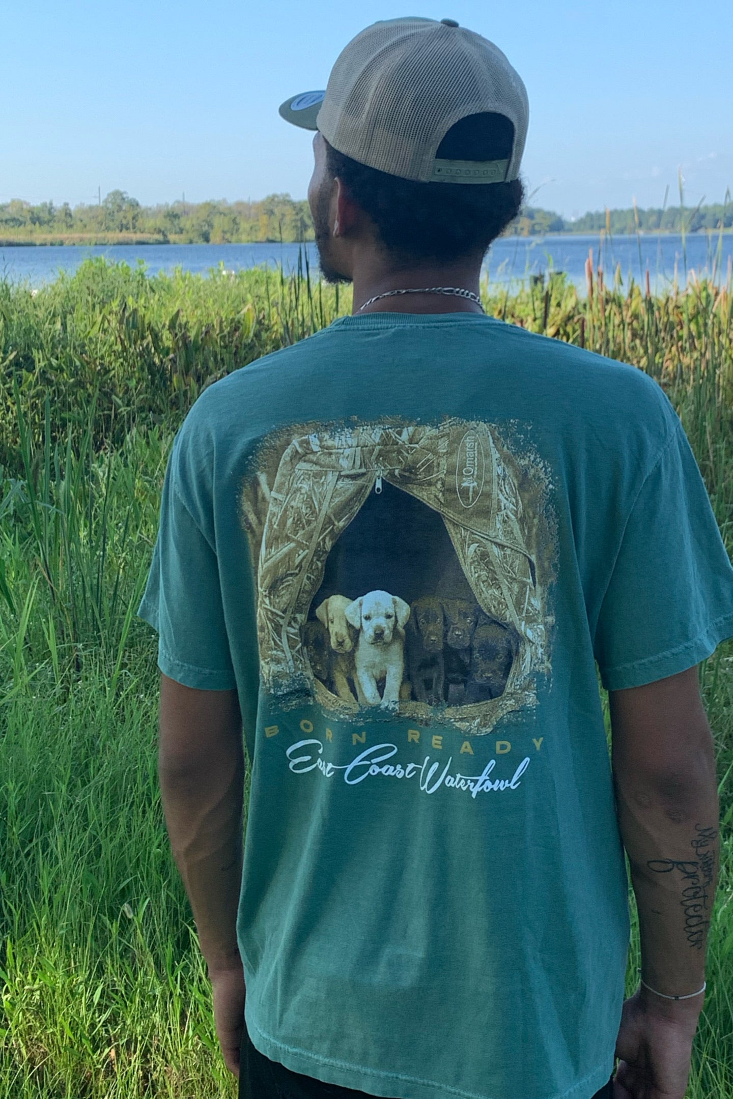 Born Ready Short Sleeve Pocket T-Shirt by East Coast Waterfowl