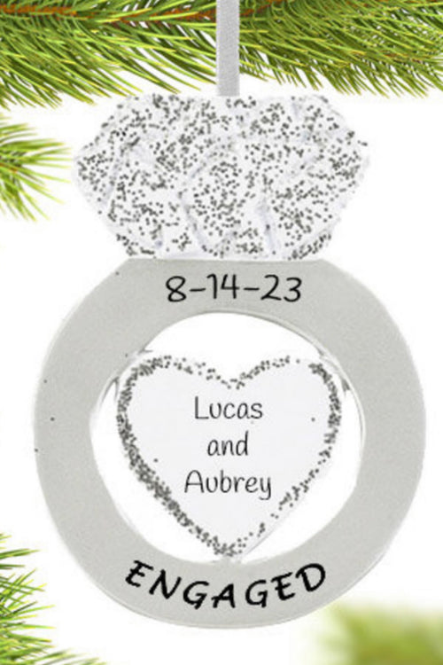 Personalized Ornament ~ Engaged