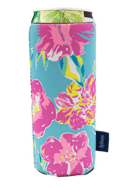 """Tropical"" Slim Can Holder by Simply Southern"