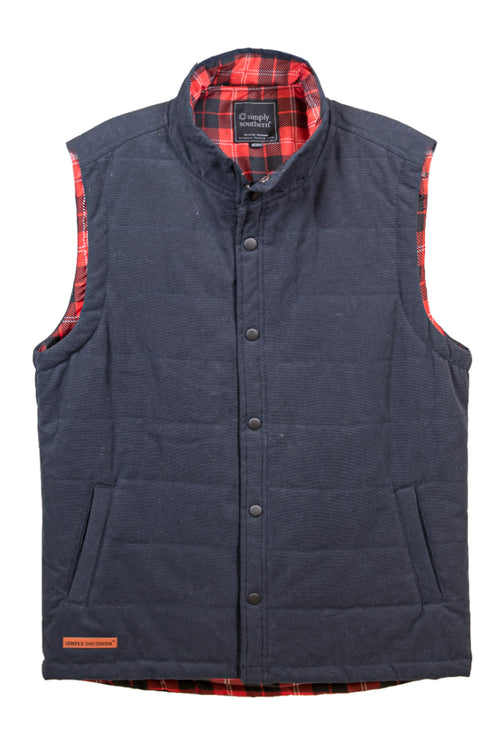 Simply Southern Washington Vest for Men~Navy