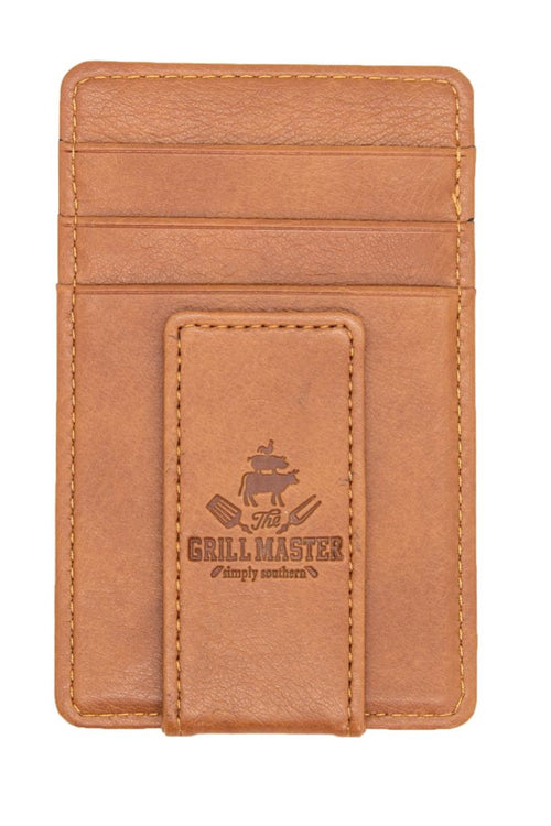 """Grill"" Leather Money Clip by Simply Southern"