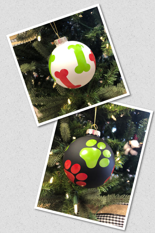 Glass Pet Lovers Ornaments