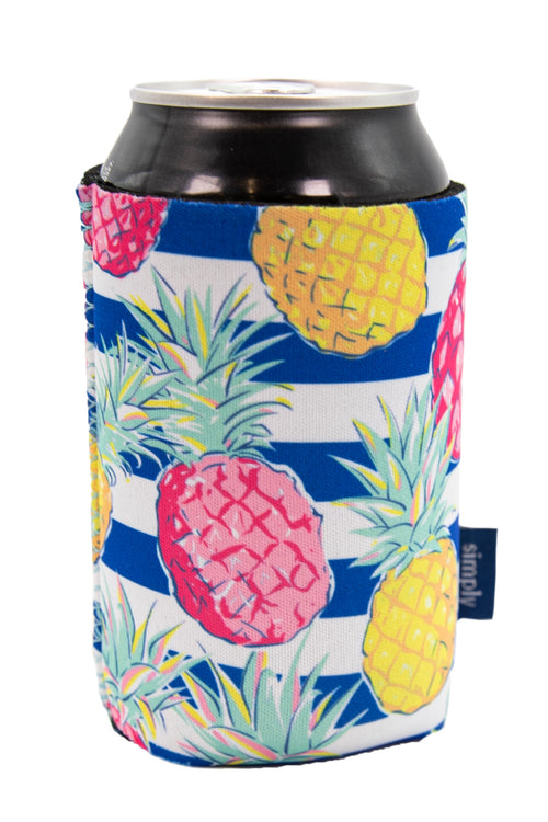 """Striped Pineapple"" Can Holder by Simply Southern"