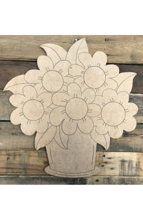 """Flower Pot"" Wooden Door Hanger ~ Paint Yourself"