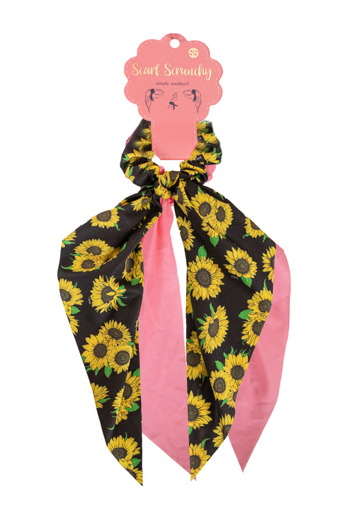 """Sunflower"" Scarf Scrunchy Set by Simply Southern"