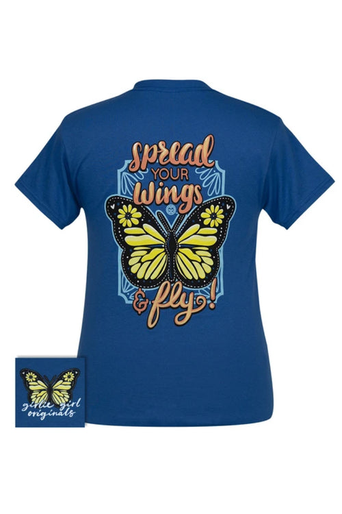Youth Spread Your Wings Short Sleeve Tee by Girlie Girl