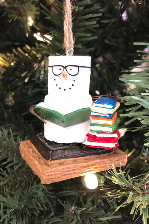 S'mores Book Club Ornament