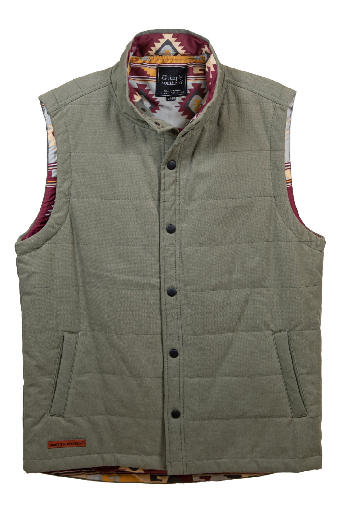 Simply Southern Washington Vest for Men~Green