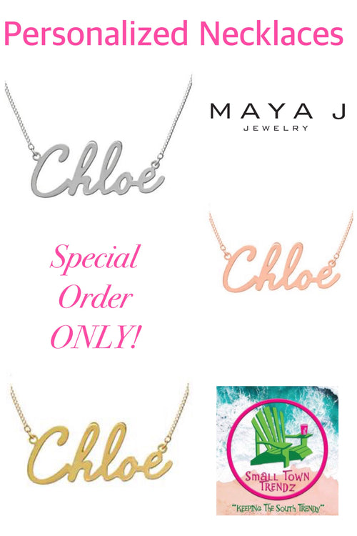 Script Name Necklace by Maya J (Special Order ONLY)