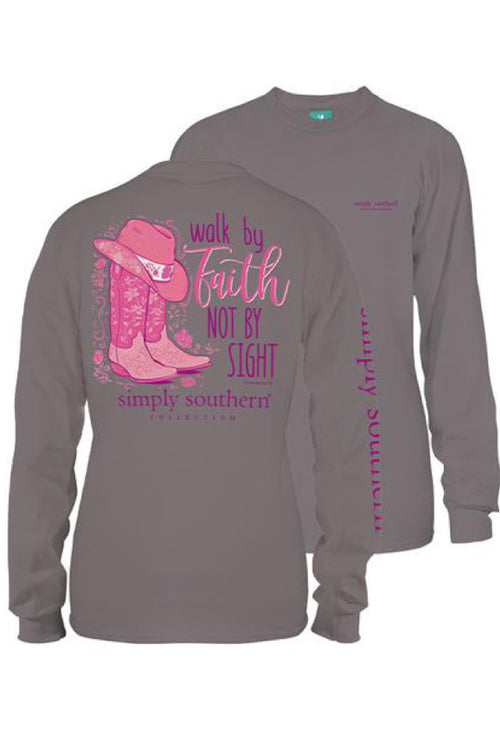 Simply Southern Youth Long Sleeve Cowgirl Faith