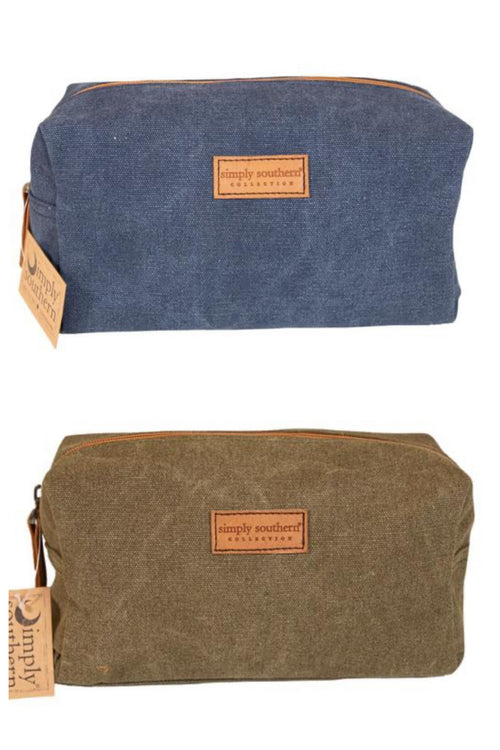 Simply Southern Waxed Canvas Men's Toiletry Bag