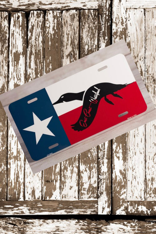Texas ECW License Plate by East Coast Waterfowl