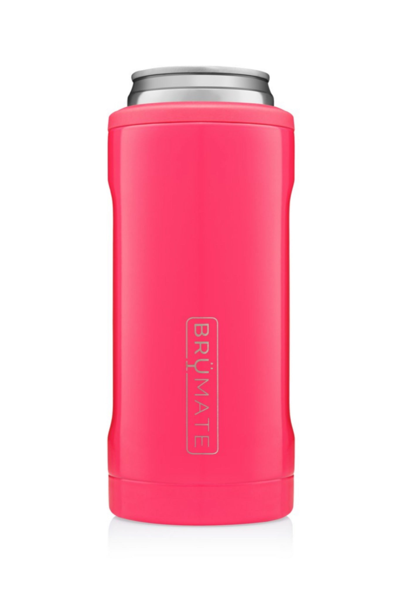 Neon Pink Hopsulator Slim Can Cooler by BrüMate
