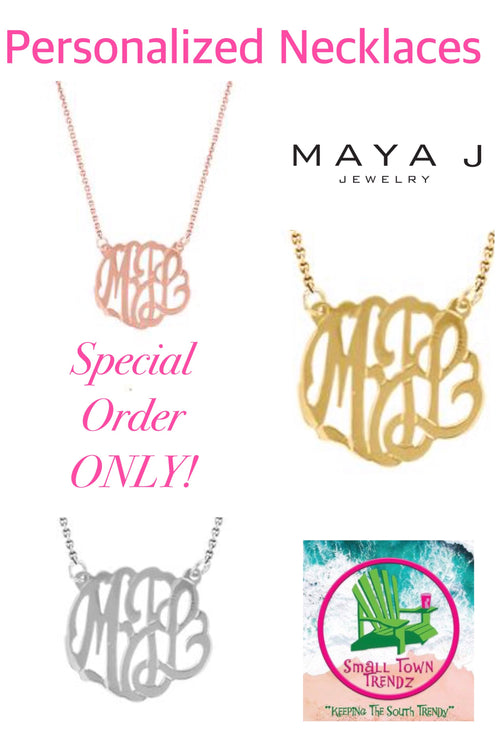 Personalized Monogram Necklace by Maya J (Special Order Only!)