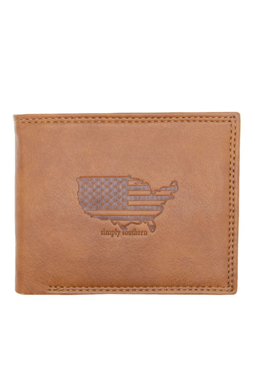 """USA"" Leather Wallet by Simply Southern"