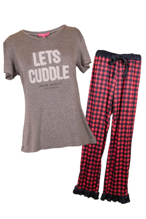 Cuddle Adult PJ Set by Simply Southern