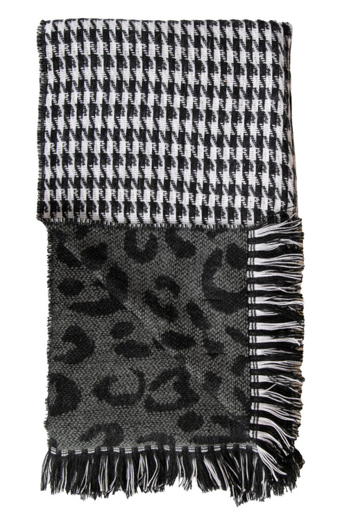 Leopard/Houndstooth Double Scarves by Simply Southern