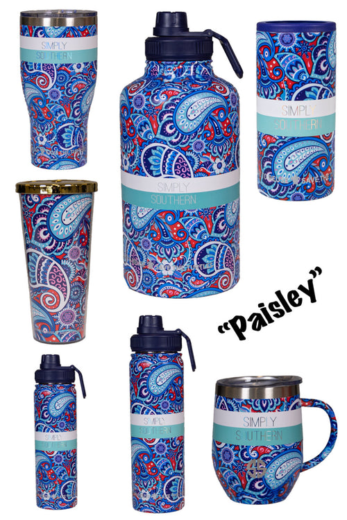 "Simply Southern ""Paisley"" Drinkware"