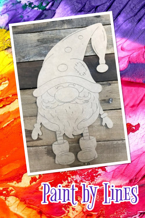 """Gnome"" Wooden Door Hanger ~ Paint Yourself"