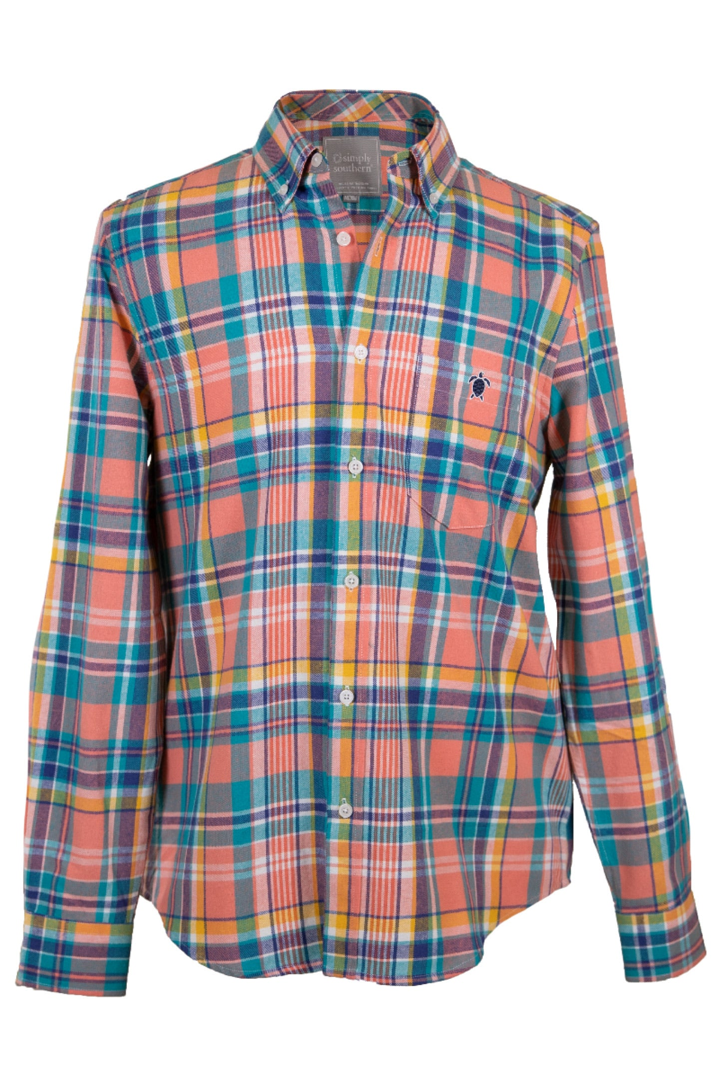 Peach Guy's Parker Flannel Dress Shirt by Simply Southern