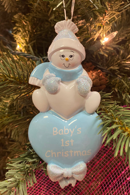 Personalized Ornament ~ Baby 1st Christmas Boy