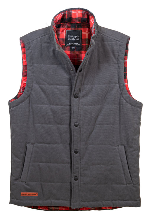 Simply Southern Washington Vest for Men~Gray