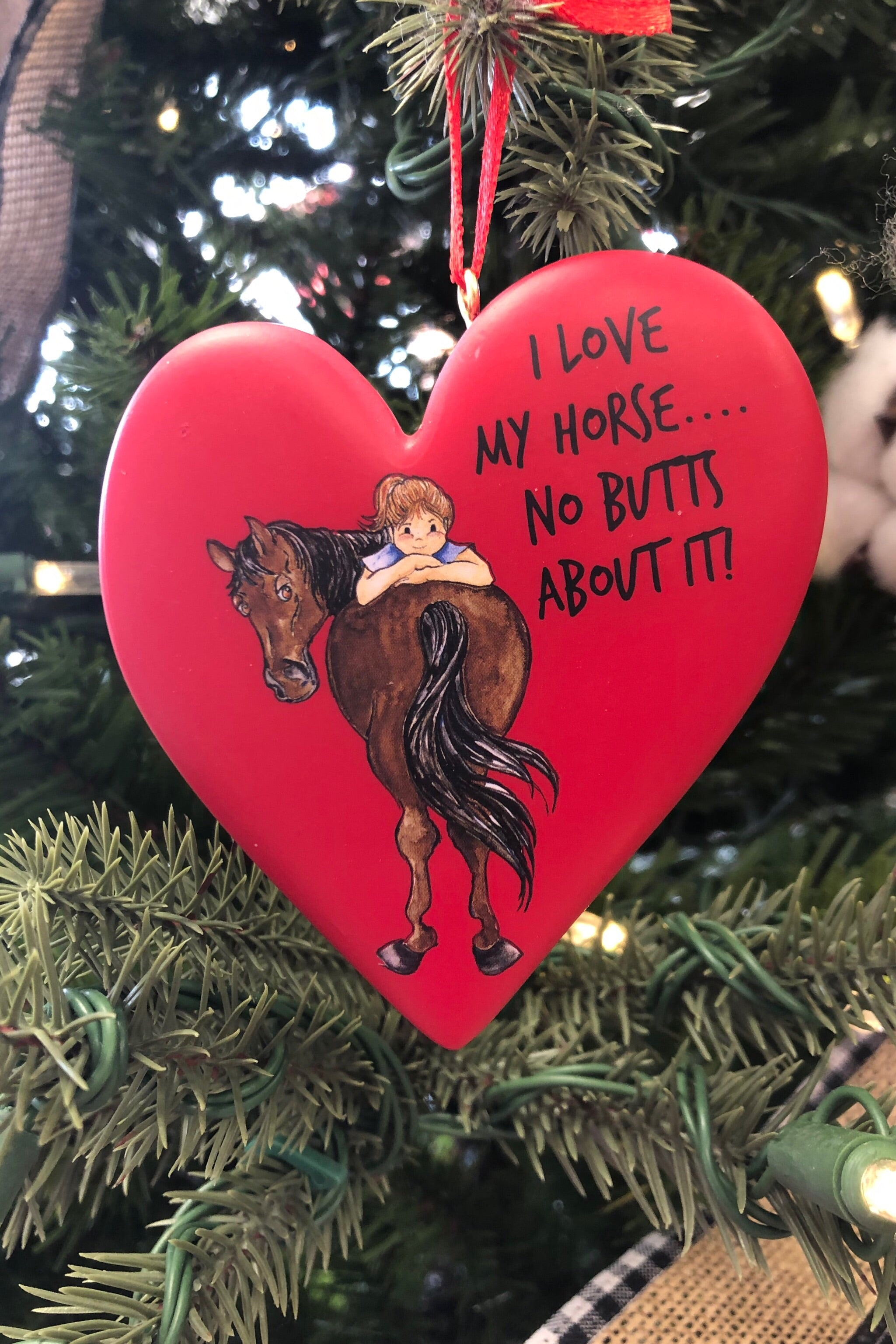For The Love of Horse!  Heart Shaped Ornaments