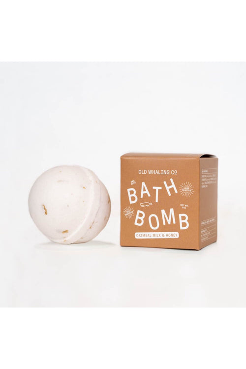 Oatmeal Milk & Honey Bath Bomb by Old Whaling Co.