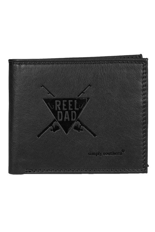 """Reel Dad"" Leather Wallet by Simply Southern"