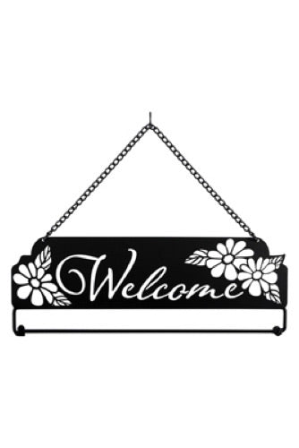 "Laser Cut ""Daisy Welcome"" Garden Flag Hanger"