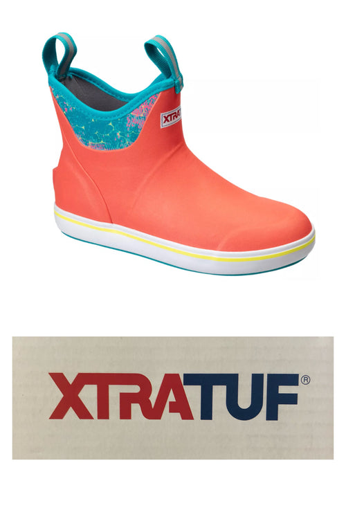 Xtratuf Deck Boots for Women - Coral Coho