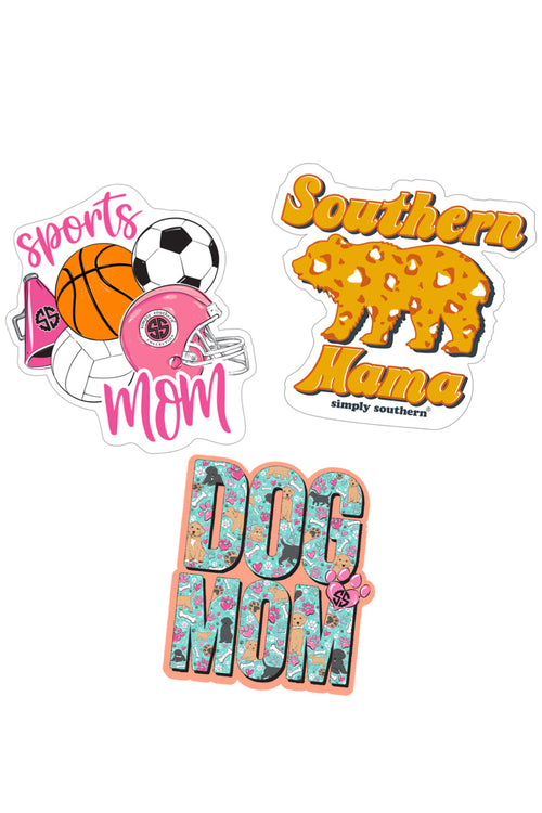 """Mom"" Sticker 3 Pack by Simply Southern"