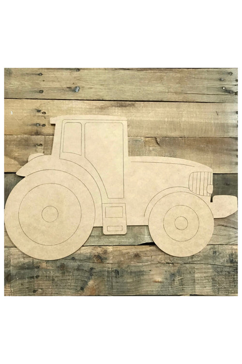 """Tractor"" Wooden Door Hanger ~ Paint Yourself"