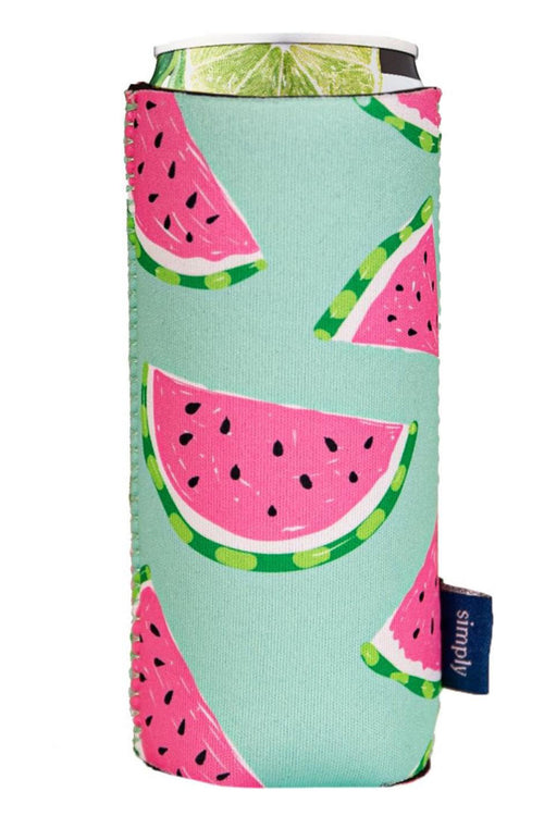 """Watermelon"" Slim Can Holder by Simply Southern"