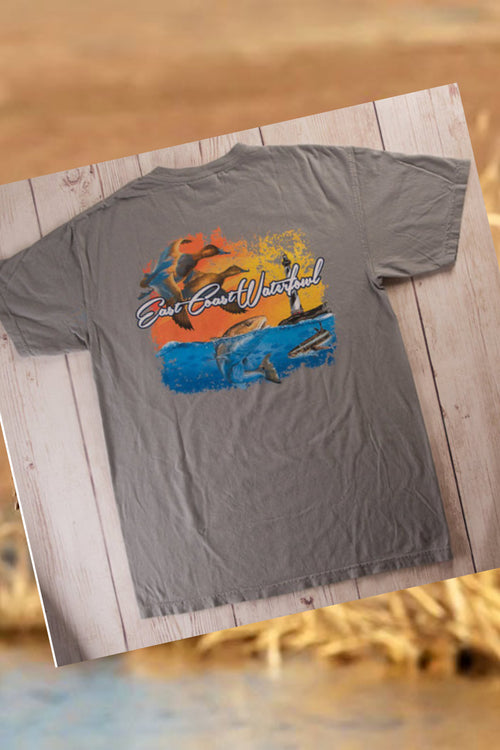 Fin & Fowl Short Sleeve Pocket T-Shirt by East Coast Waterfowl