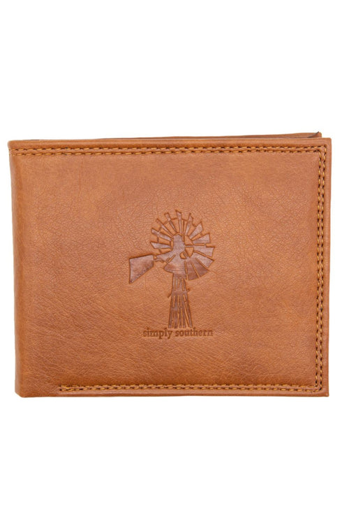 """Mill"" Leather Wallet by Simply Southern"