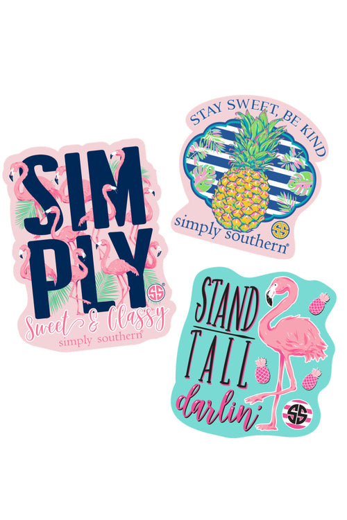 """Flamingo"" Sticker 3 Pack by Simply Southern"