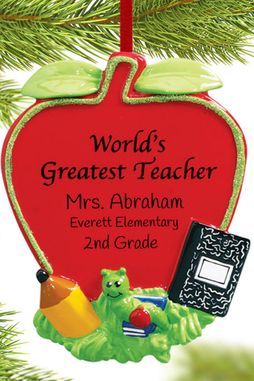 Personalized Ornament ~ World's Greatest Teacher