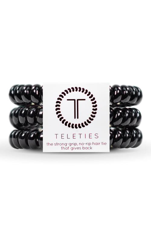 Teleties ~ Jet Black, Small 3 pack