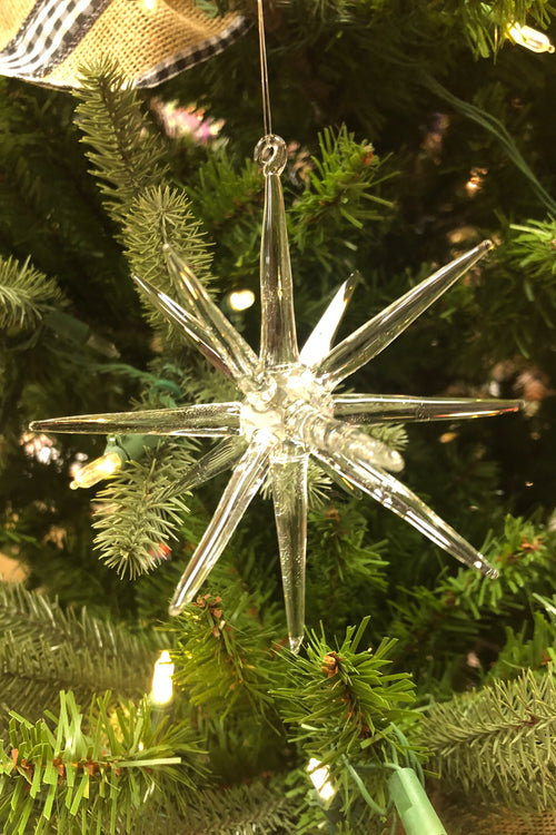 Glass Twinkle Star Ornament