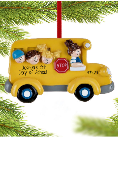 Personalized Ornament ~ School Bus