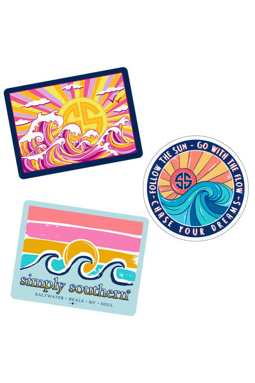 """Wave"" Sticker 3 Pack by Simply Southern"