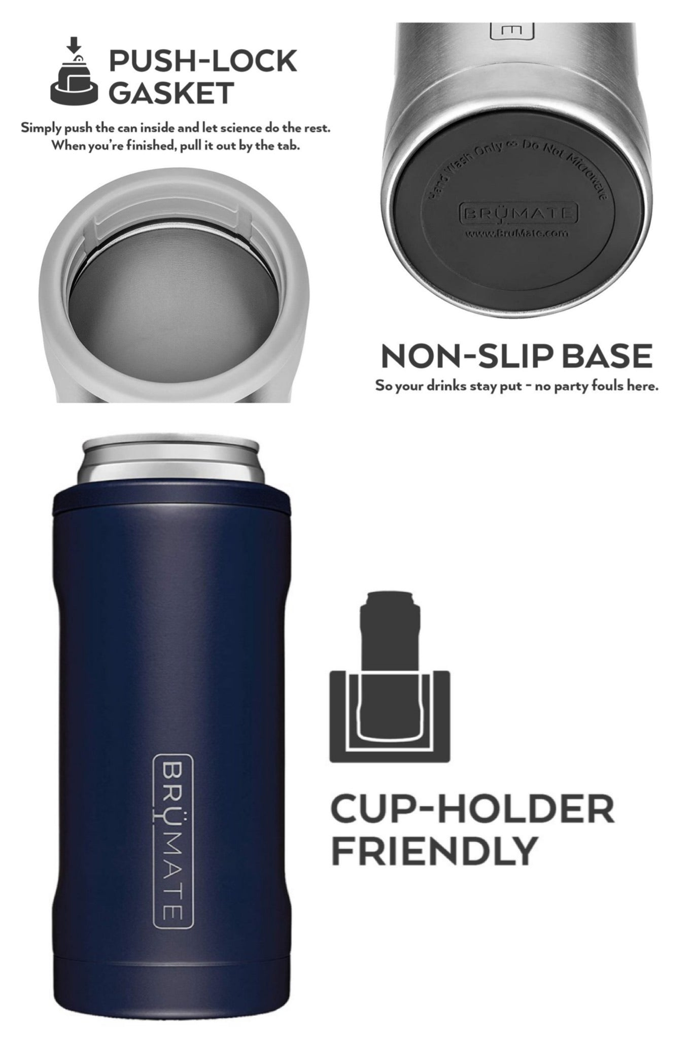 Glitter Peacock Hopsulator Slim Can Cooler by BrüMate
