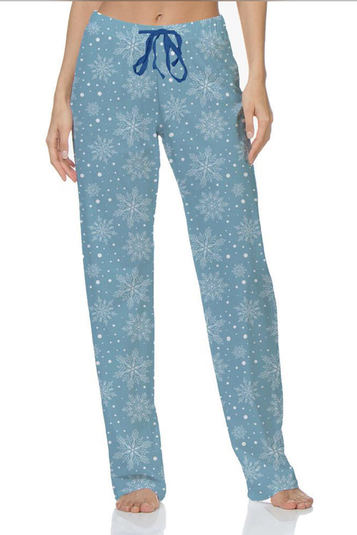 Snow  Cute Lounge Pants by Hello Mello