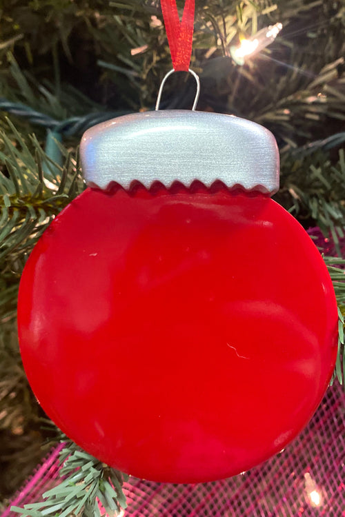Personalized Ornament ~ Red Christmas Ball
