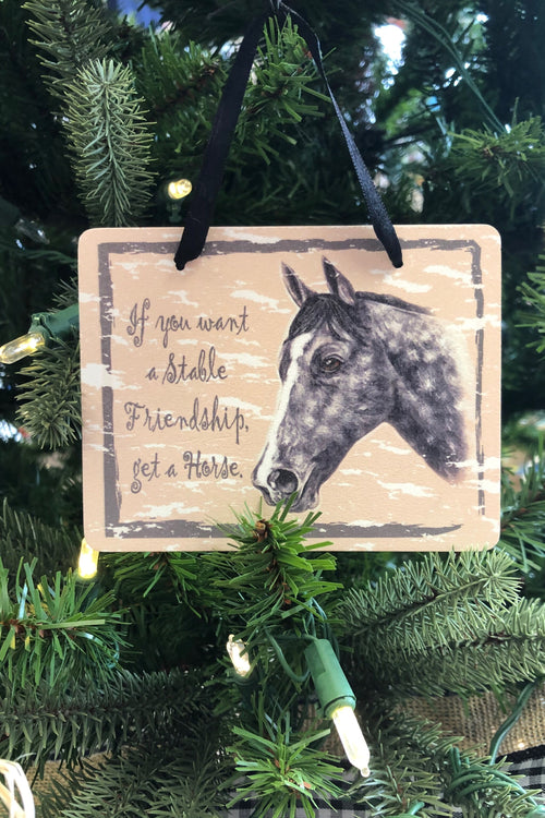 Horse Plaque Ornament