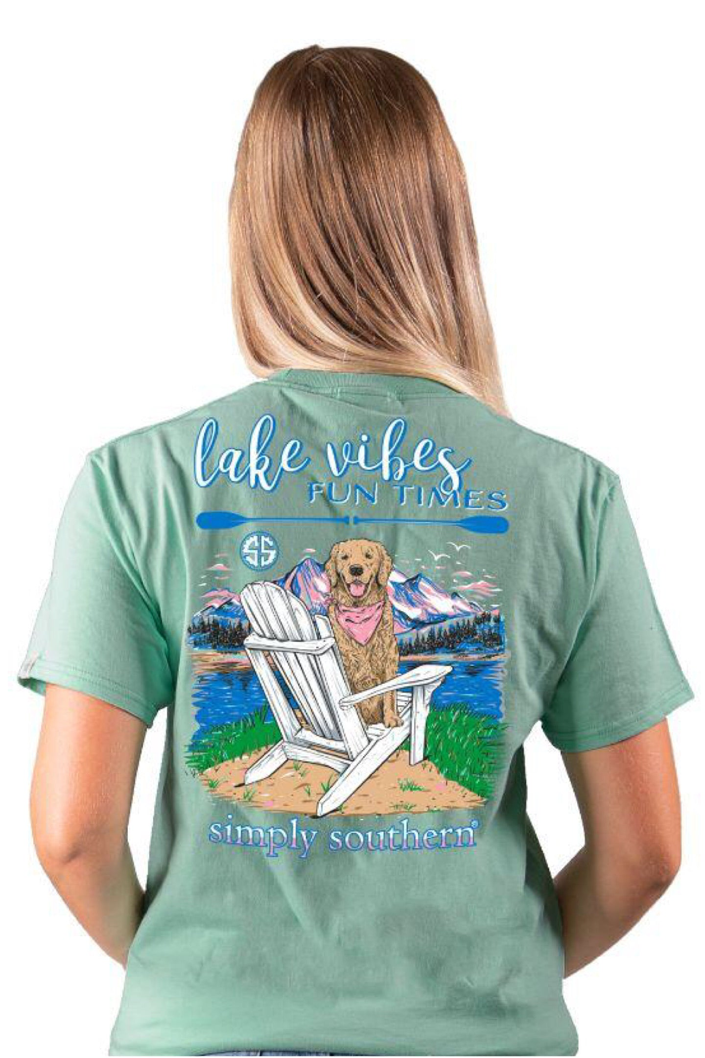 """Lake"" Short Sleeve Tee by Simply Southern"