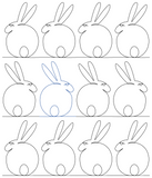 Bunny1 repeat, even rows x flip